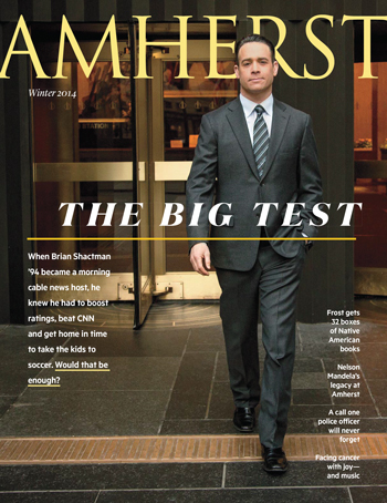 Cover of Winter 2014 Amherst magazine