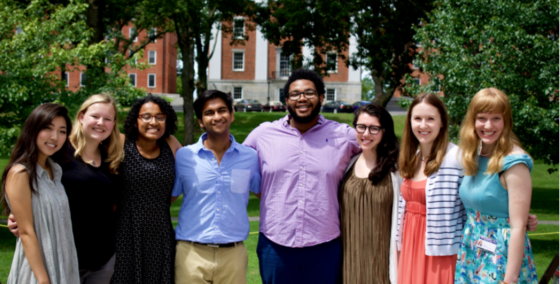 The Mead Art Museum interns (pictured here with some Mead staff members) curated their own exhibit this summer.