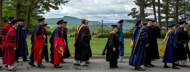faculty procession at Commencement