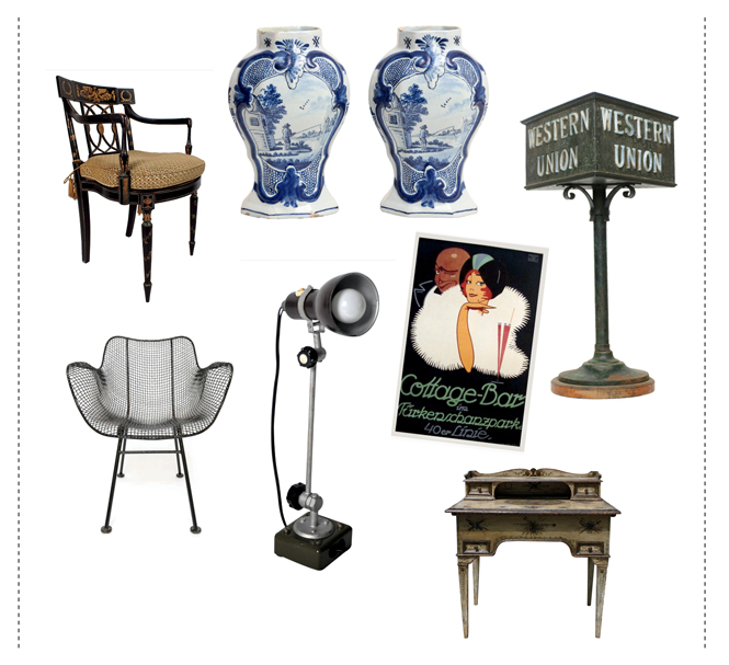 A range of objects sold at HighBoy.com