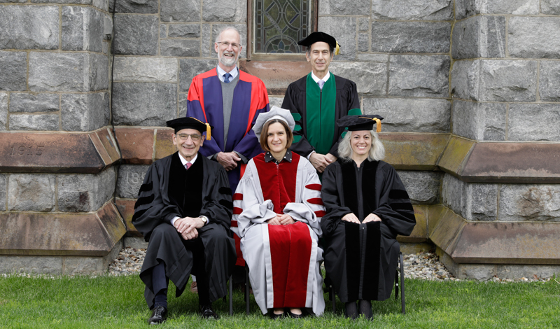 group portrait of the 2017 honorary degree recipients