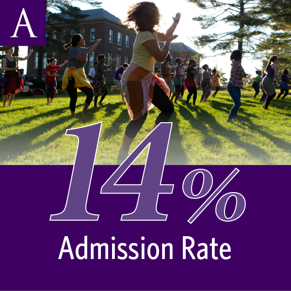 Amherst College has a 14-percent admission rate.