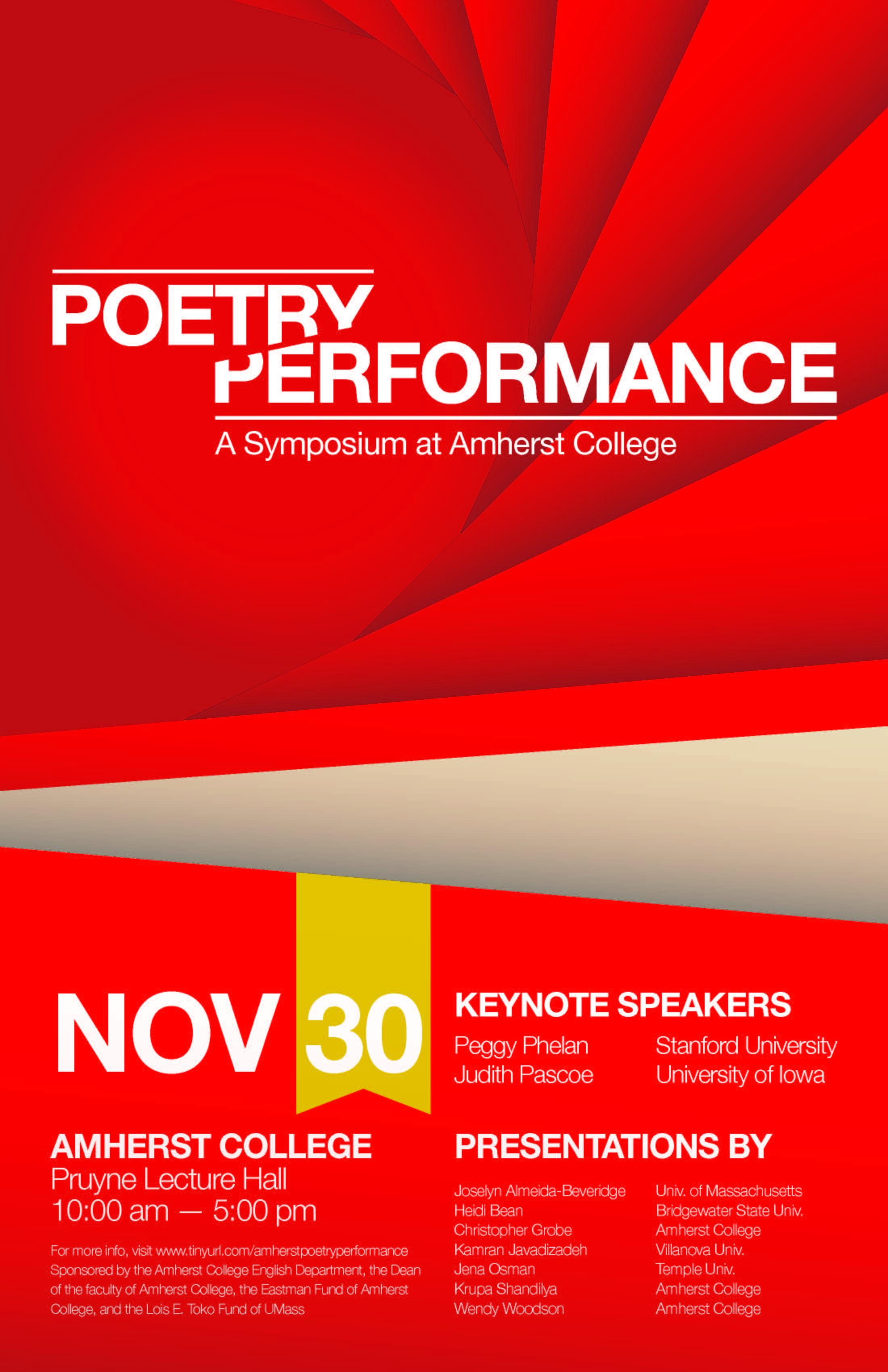 poetry performance poster