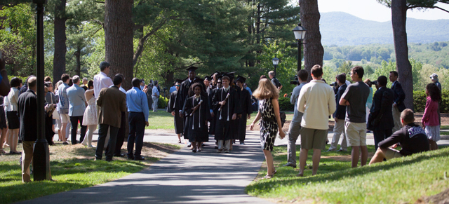 The procession at Commencement 2015