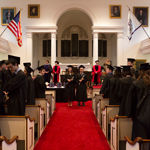 The Class of 2016 processes into Johnson Chapel for Senior Assembly