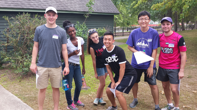 Students on the Community Engagement Orientation Trip in Holyoke MA