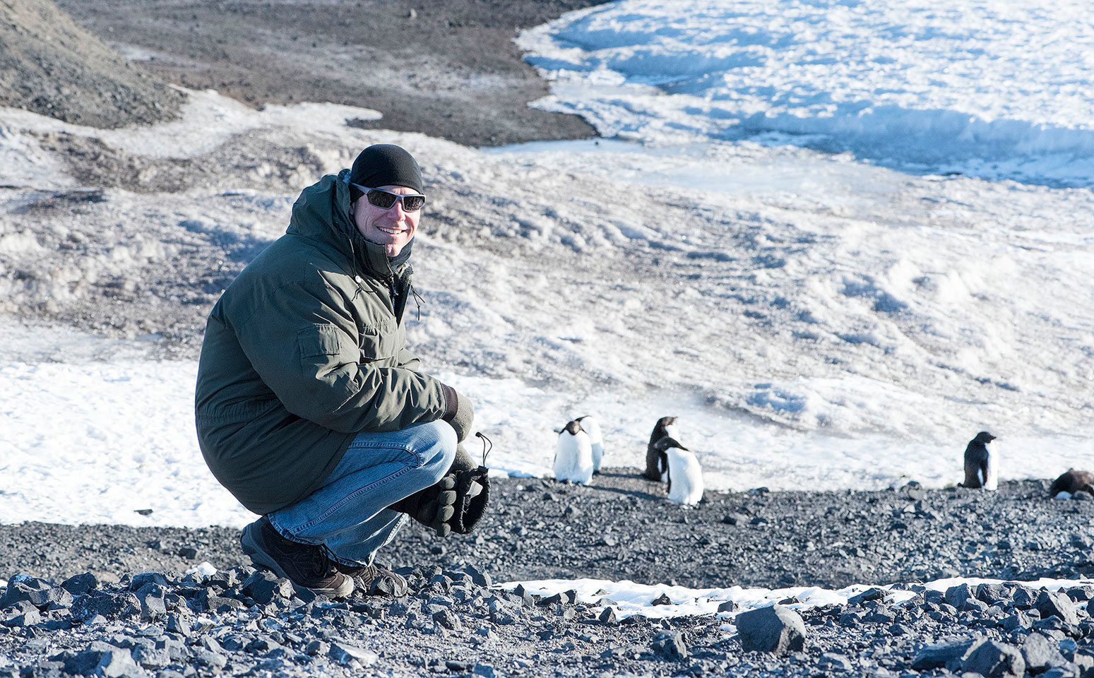 Johathan Vinson '93 at McMurdo Station in the Antarctica