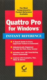 Quattro Pro for Windows Instant Reference cover