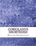 Coriolanus Shortened: Shakespeare Edited For Length cover