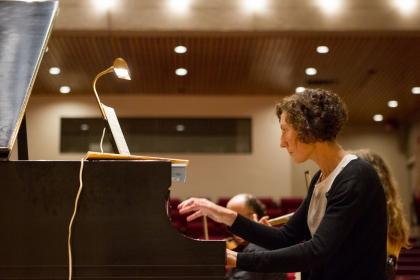Buckley Chamber Players' Alissa Leiser at the piano