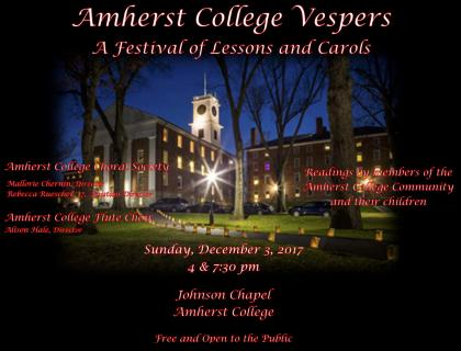 Event poster featuring an image of Johnson Chapel at night