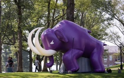 Inflatable Mammoth outside