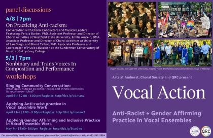 Vocal Action: Anti-Racist and Gender Affirming Practice in Ensemble Work Poster