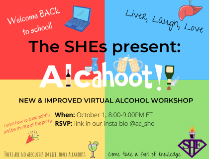 The SHEs present: Alcahoot! Poster