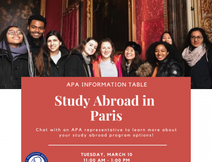 APA Paris Information Table Poster