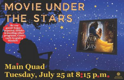 Beauty and the Beast on the Quad on July 25 at 8:15