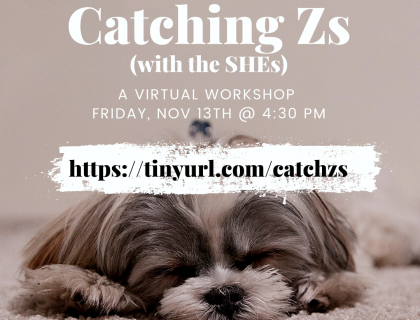 Catching Z's (with the SHES) a Virtual Workshop Friday, Nov 13th @4:30pm