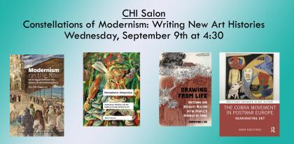 Banner image featuring covers of four books by CHI Salon participants