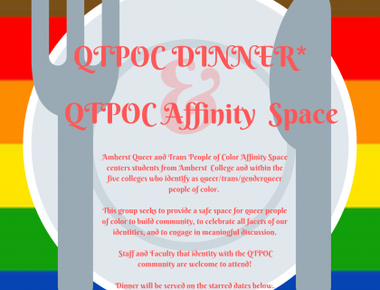 QTPOC Dinner and Affinity Space Poster
