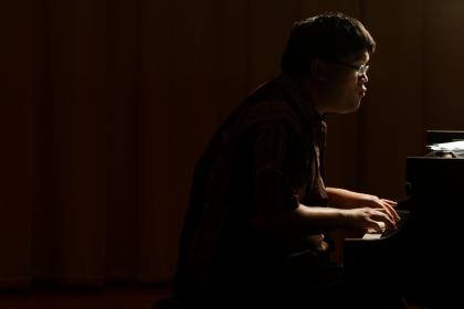 Daniel Ang at the piano