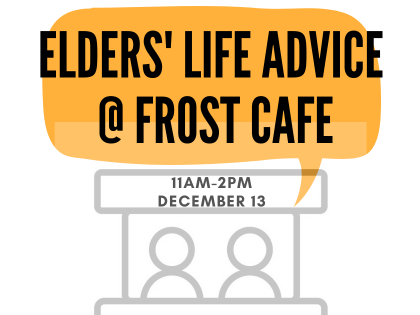 Ask town elders burning life questions! This Friday. All are welcome