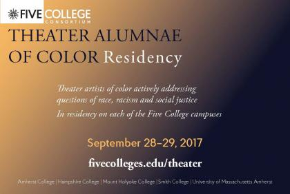 Theater Alumnae Of Color Residency Postcard