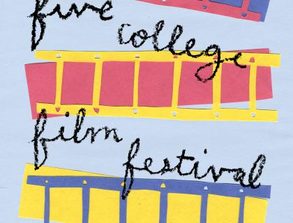 Event poster featuring colorful construction-paper cutouts that look like filmstrips