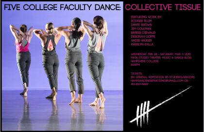 Poster for Five College Faculty Dance: Collective Tissue
