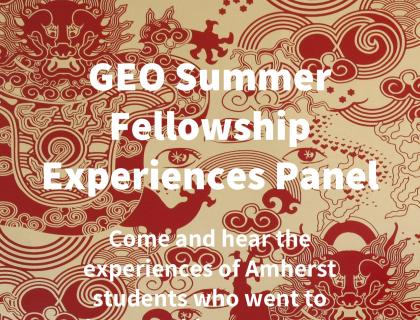 GEO Summer Fellowship Experiences Panel