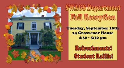 SWAGS Department Fall Reception invitation