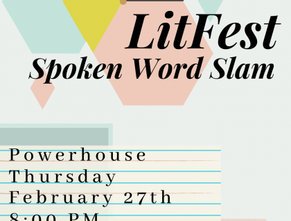 LitFest at Powerhouse, February 27