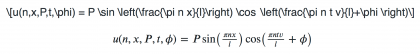An example of LaTeX code and how it appears when rendered