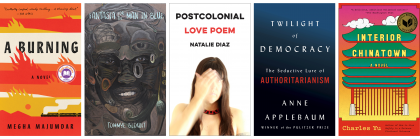 Book jackets for books by this year's LitFest authors