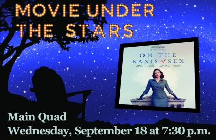 Outdoor Movie Night Poster - On The Basis Of Sex