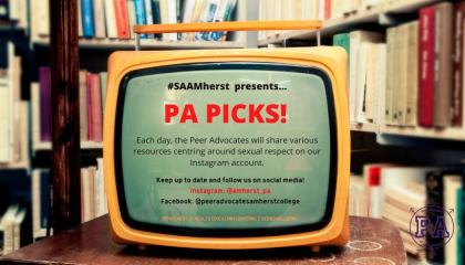#SAAMherst presents PA Picks!