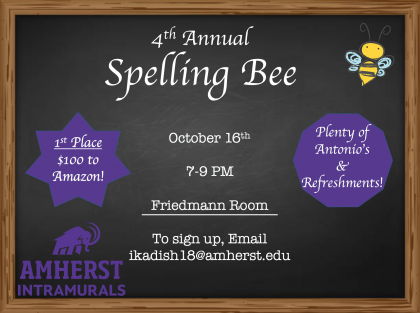 4th Annual Spelling Bee!