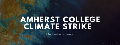 Amherst College Climate Strike on Sept. 27