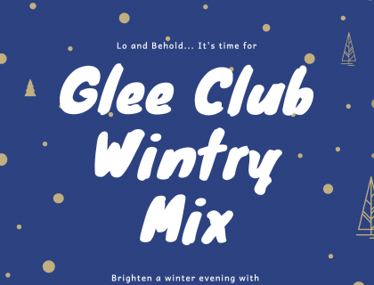 Glee Club Wintry Mix takes place at Lipton Lecture Hall, Science Center from 7: 30 to 9 :30 on March 10