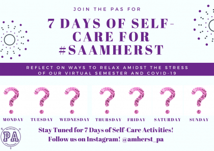 Self-Care for #SAAMherst