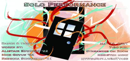 Event poster featuring an illustration of a black door coming unhinged while ribbons of color blast out from behind it