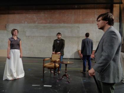 Part of the cast of The Cherry Orchard
