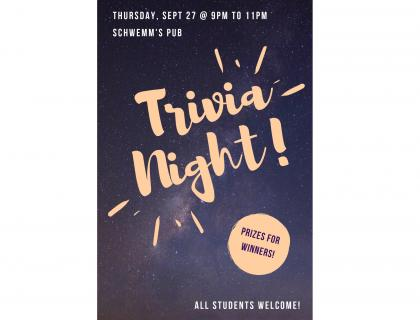 Trivia Night Event Poster