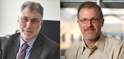 Side-by-side photos of Martin Baron and Ilan Stavans