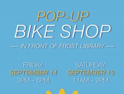Bike repair pop-up shop poster