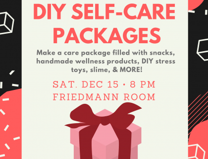 Flyer shows image of wrapped present.