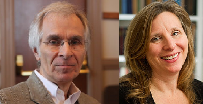 Side-by-side photo of Austin Sarat & Betsy Cannon Smith '84