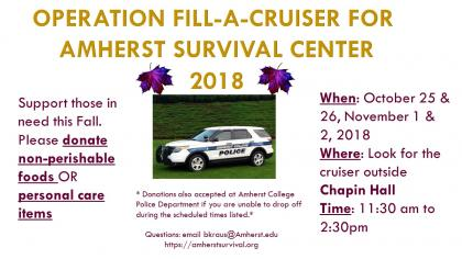 Fill-A-Cruiser for Amherst Survival Center