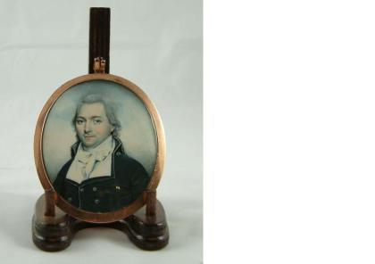 Miniature painting of Captain Doyle E. Sweeny by Raphaelle Peale