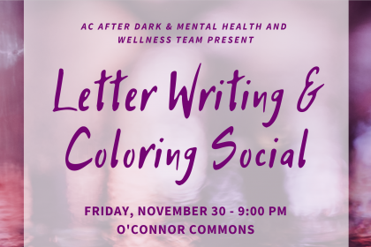 Letter Writing and Coloring Social