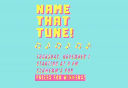 Name That Tune Event Poster